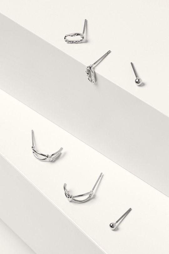 Pieces - Cercei (3-pack) argintiu