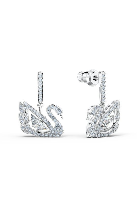 srebrny Swarovski - Kolczyki Dancing Swan Damski