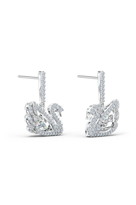Swarovski - Kolczyki Dancing Swan srebrny