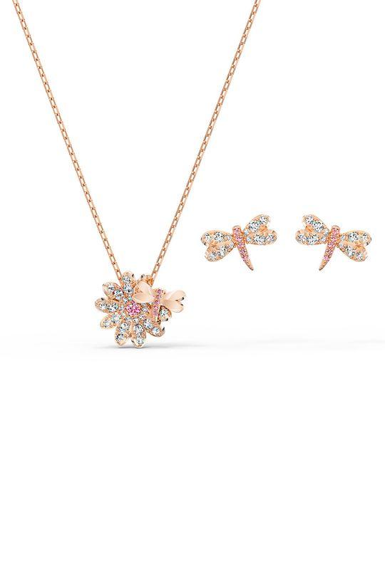 zlatá Swarovski - Náušnice a náhrdelník Set Fly