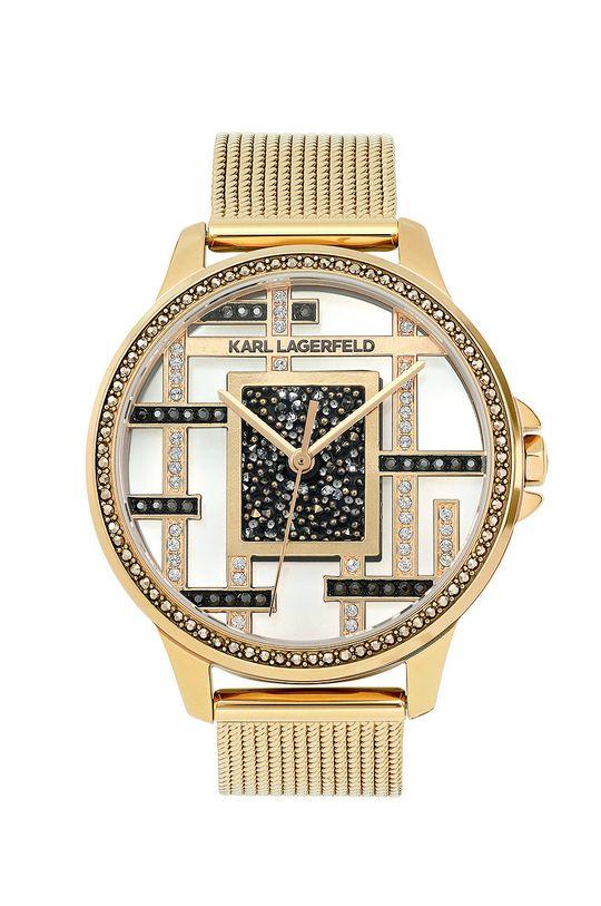 zlatá Karl Lagerfeld - Hodinky 5513116 Dámsky