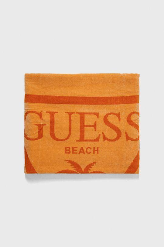 Guess Jeans - Ręcznik plażowy pomarańczowy