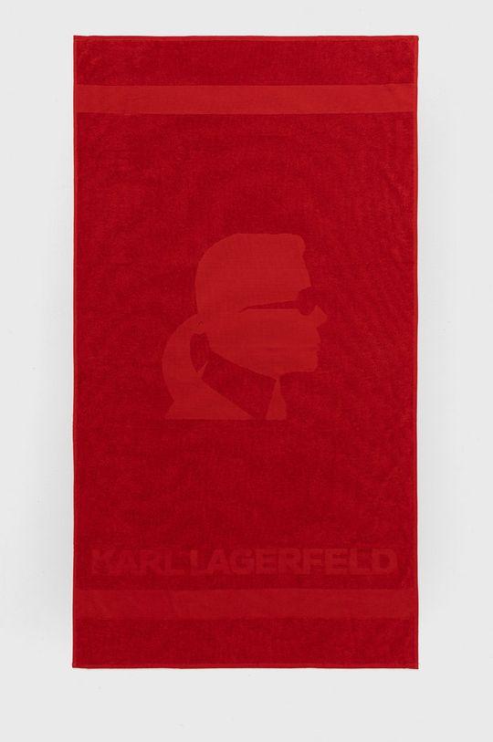 czerwony Karl Lagerfeld - Ręcznik Męski