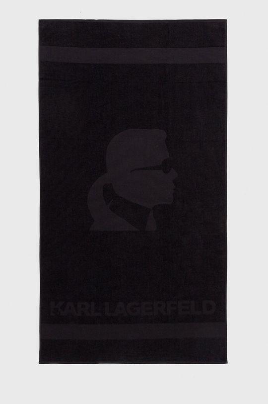 czarny Karl Lagerfeld - Ręcznik Męski