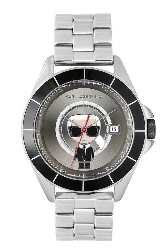 stříbrná Karl Lagerfeld - Hodinky 5552769 Pánský