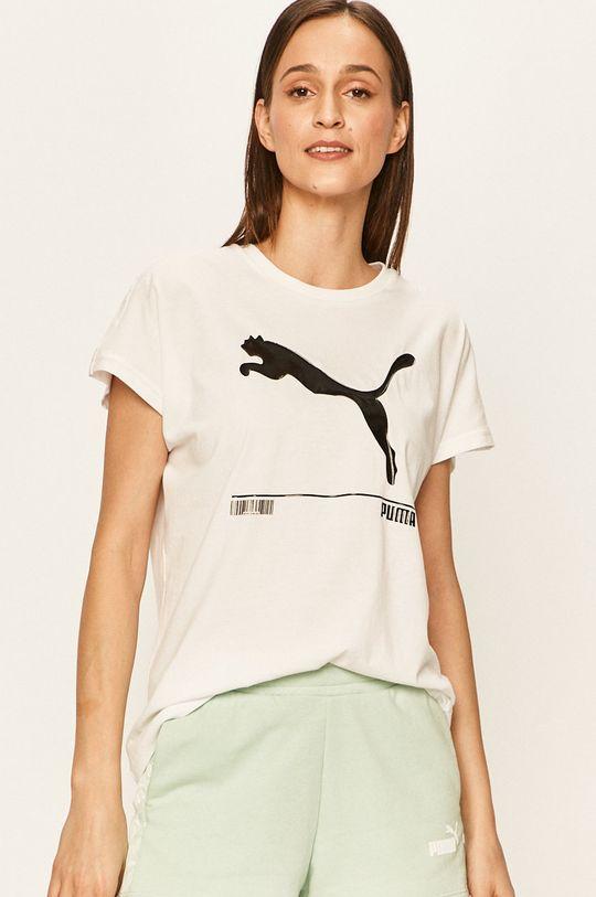 бял Puma - Тениска Жіночий