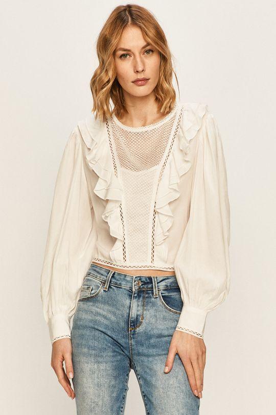 alb Guess Jeans - Bluza De femei