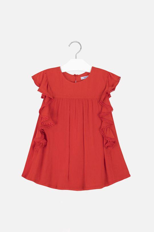 Mayoral - Bluzka dziecięca 128-167 cm ostry czerwony
