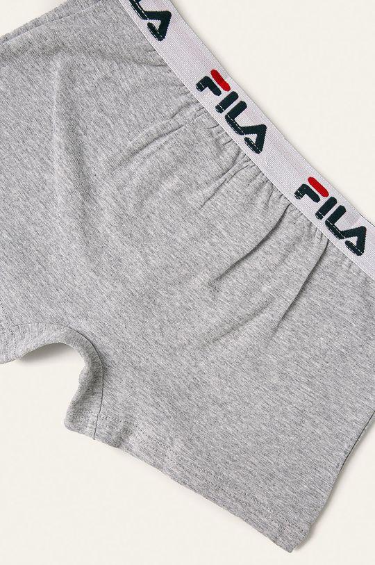 Fila - Dětské boxerky 125-157 cm světle šedá
