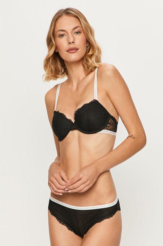 Calvin Klein Underwear - Sutien Ck One  Captuseala: 100% Poliester  Materialul de baza: 18% Elastan, 82% Nailon