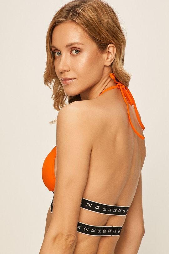 Calvin Klein - Plavková podprsenka oranžová