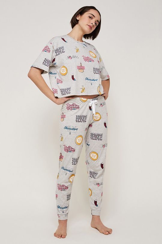gri Undiz - Tricou de pijama Aopiz De femei