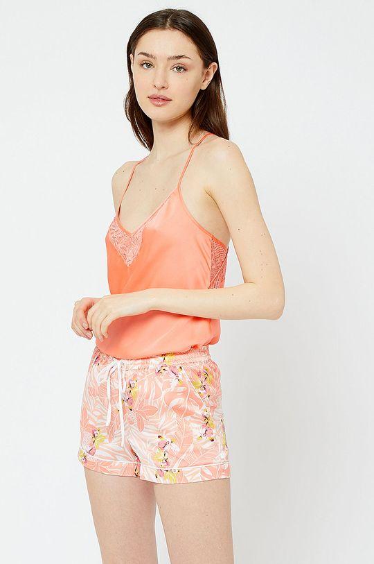 koralowy Etam - Szorty piżamowe Papaye Damski