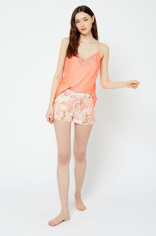 Etam - Szorty piżamowe Papaye koralowy