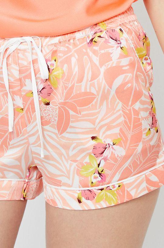 koralowy Etam - Szorty piżamowe Papaye