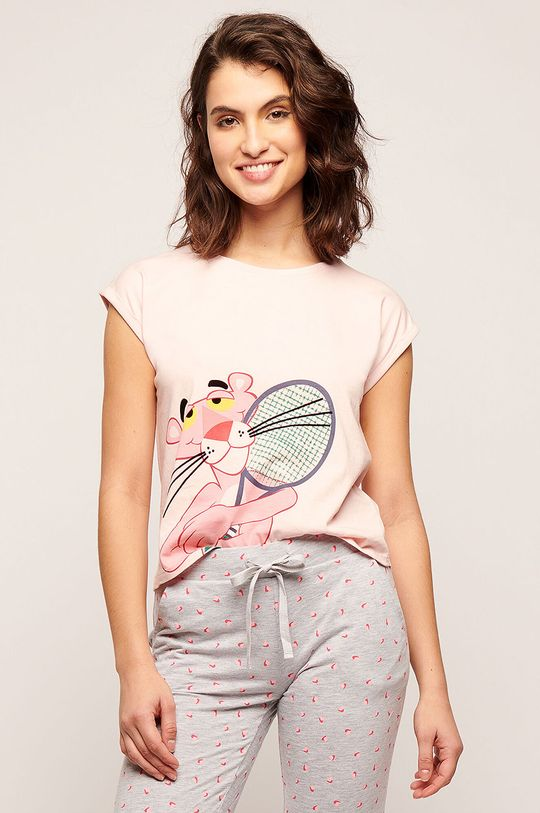 růžová Etam - Pyžamové tričko Preston Dámský