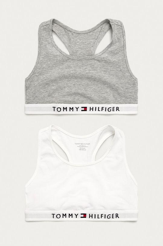 szary Tommy Hilfiger - Biustonosz dziecięcy (2-pack) 128-164 cm Dziewczęcy