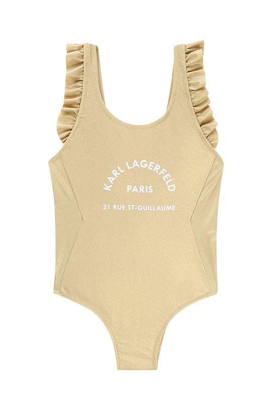 zlatá Karl Lagerfeld - Dětské plavky 114-150 cm Dívčí