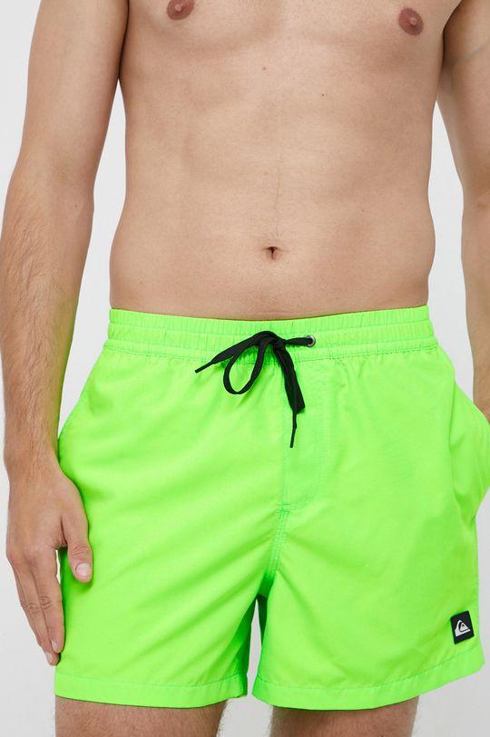 żółto - zielony Quiksilver - Szorty kąpielowe Męski