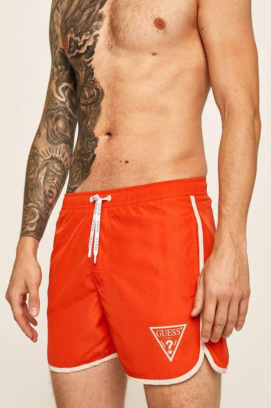 oranžová Guess Jeans - Plavkové šortky Pánský