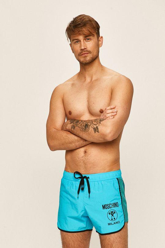 světle modrá Moschino Underwear - Plavkové šortky Pánský