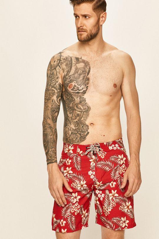 sýtočervená Jack & Jones - Plavkové šortky Pánsky