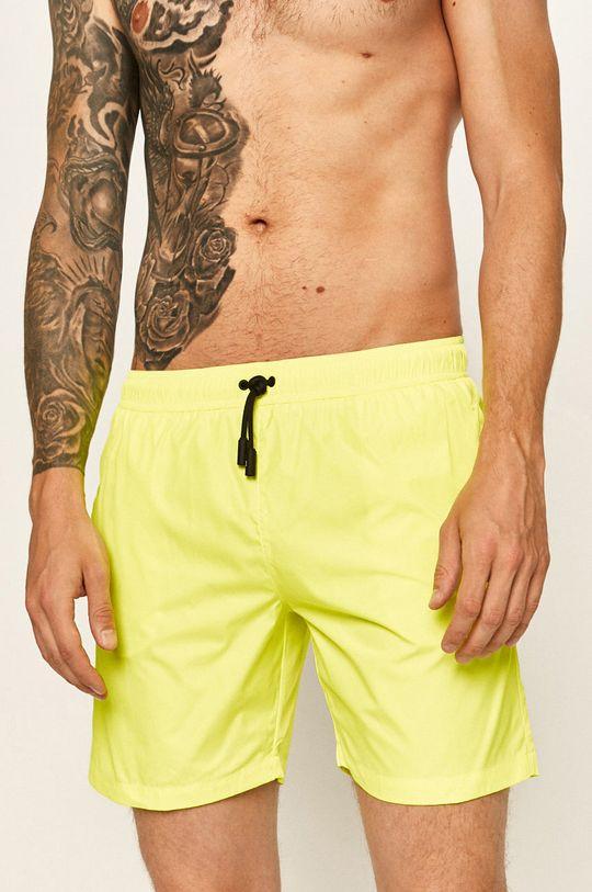 žlutá Roberto Cavalli Sport - Plavkové šortky Pánský