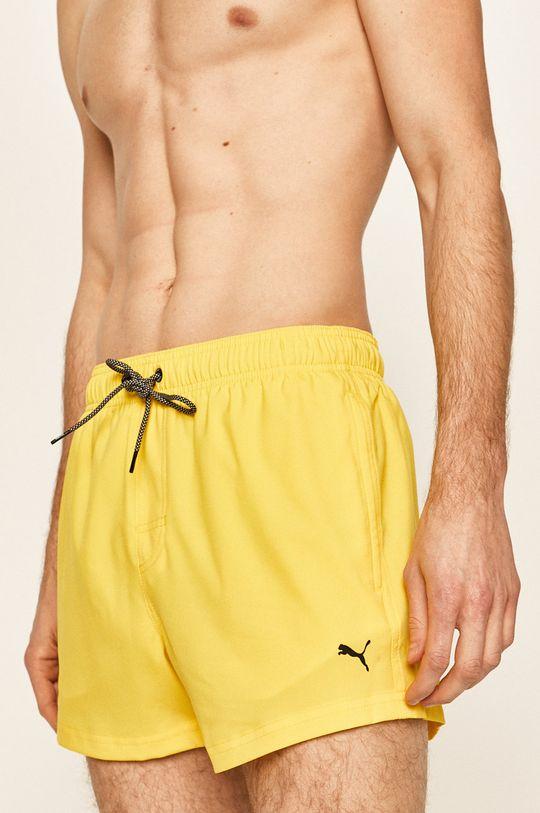 żółty Puma - Szorty kąpielowe Męski