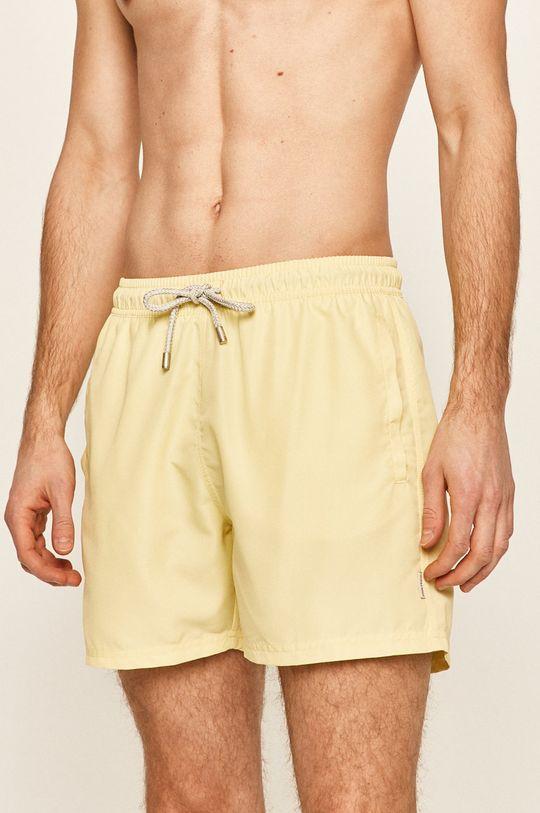 John Frank - Szorty kąpielowe jasny żółty
