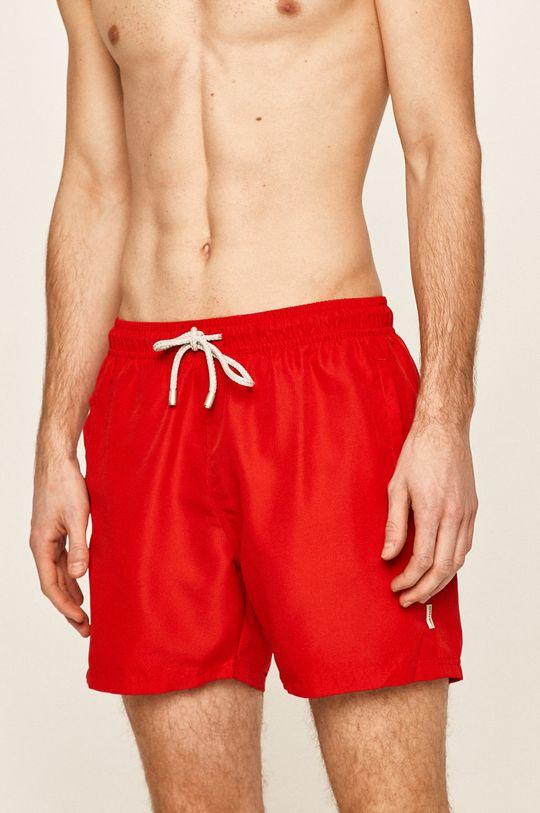 John Frank - Plavkové šortky červená