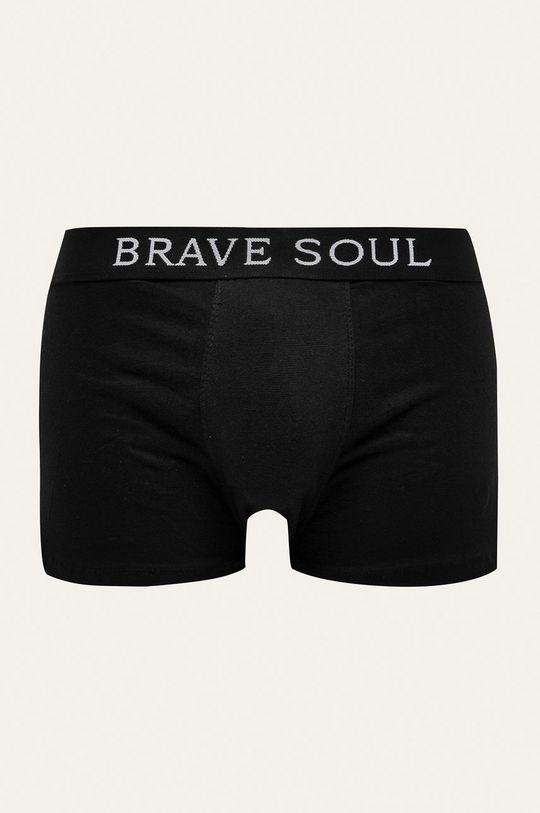 černá Brave Soul - Boxerky (5-pack) Pánský