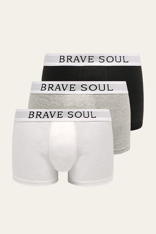 vícebarevná Brave Soul - Boxerky (3-pack) Pánský