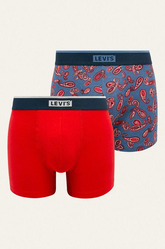 červená Levi's - Boxerky (2-pack) Pánský