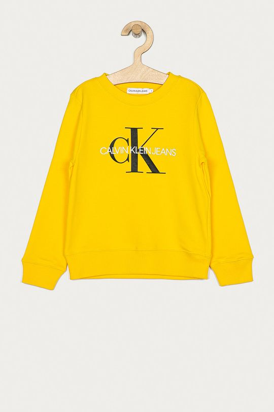 žlutá Calvin Klein Jeans - Mikina IU0IU00069 Dětský