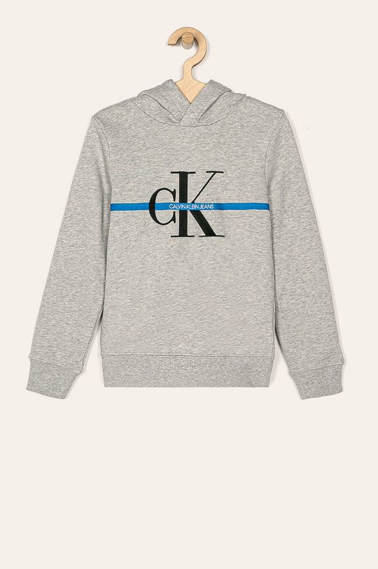 svetlosivá Calvin Klein Jeans - Detská mikina 116-176 cm Chlapčenský