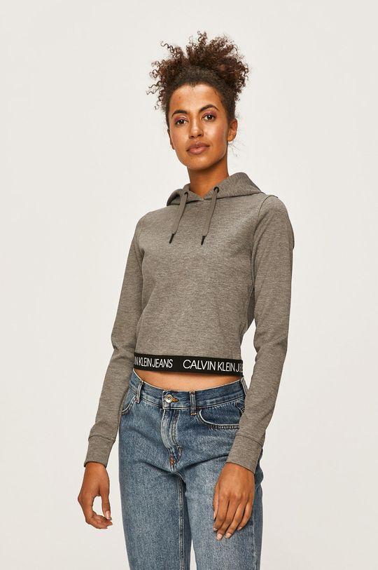 světle šedá Calvin Klein Jeans - Mikina Dámský