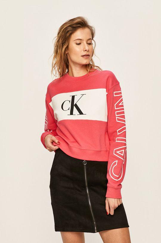 růžová Calvin Klein Jeans - Mikina Dámský