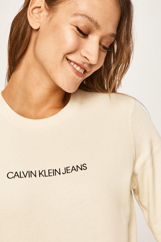 smetanová Calvin Klein Jeans - Mikina