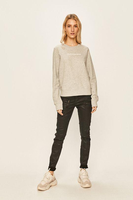 Calvin Klein Jeans - Bluza gri deschis