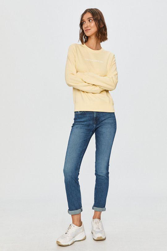 Calvin Klein Jeans - Mikina žltá