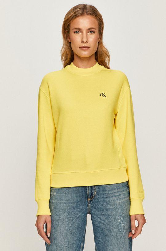 galben Calvin Klein Jeans - Bluza J20J212875 De femei