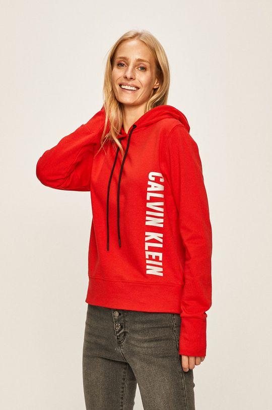červená Calvin Klein Performance - Mikina Dámský