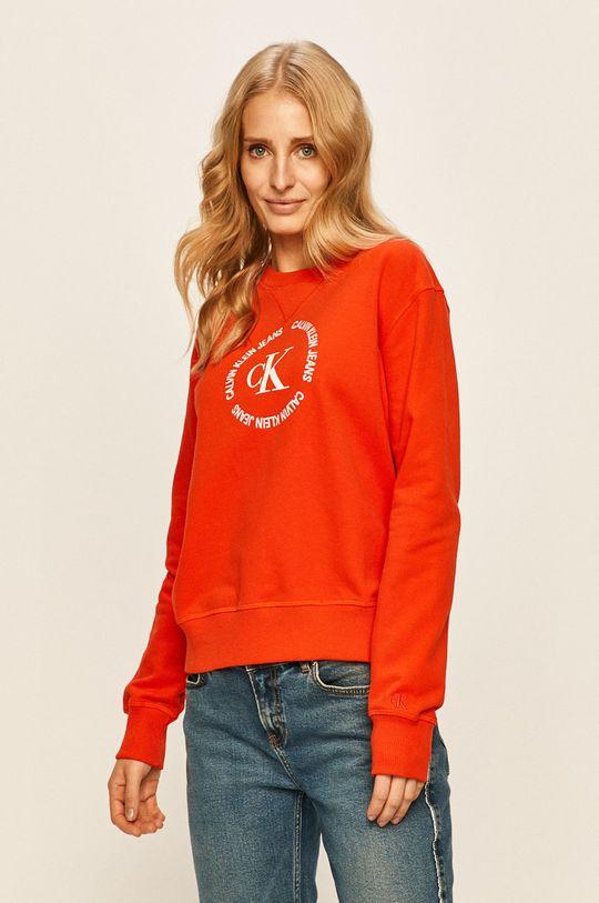 portocaliu Calvin Klein Jeans - Bluza De femei
