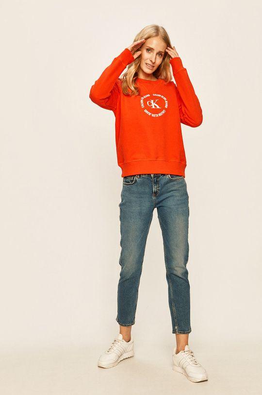 Calvin Klein Jeans - Bluza portocaliu