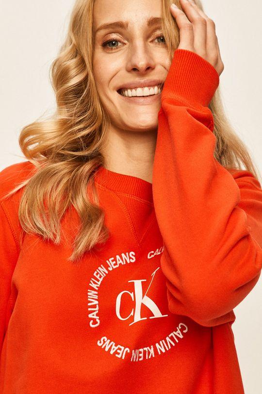 portocaliu Calvin Klein Jeans - Bluza