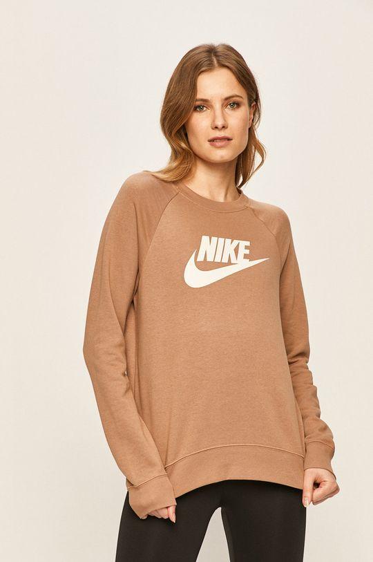 kávová Nike Sportswear - Mikina Dámský