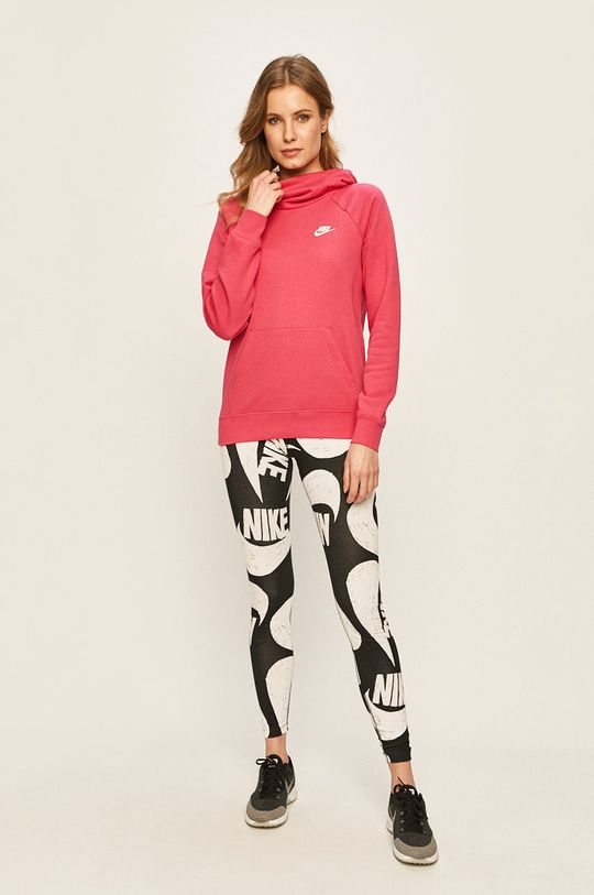 Nike Sportswear - Mikina ostrá růžová