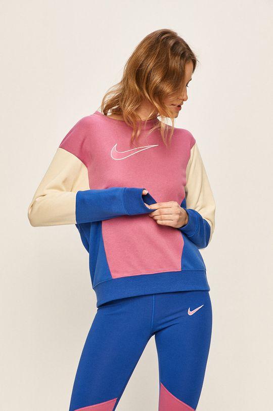 fuchsiová Nike Sportswear - Mikina Dámský