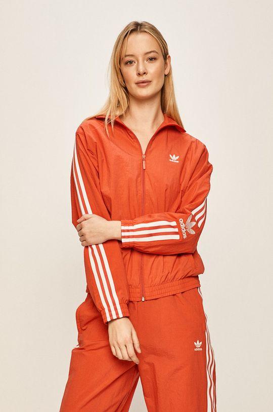 czerwony adidas Originals - Kurtka