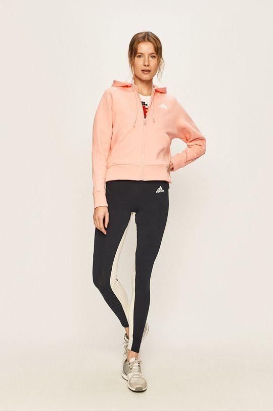 adidas Performance - Mikina ružovo-červená